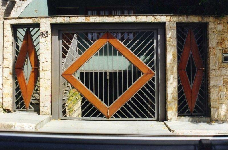 Portão automático galvanizado