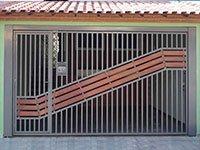 PORTÃO AUTOMÁTICO TUBULAR COM MADEIRA ATM-04